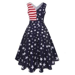 American flag dress nwt xxl fits like xl